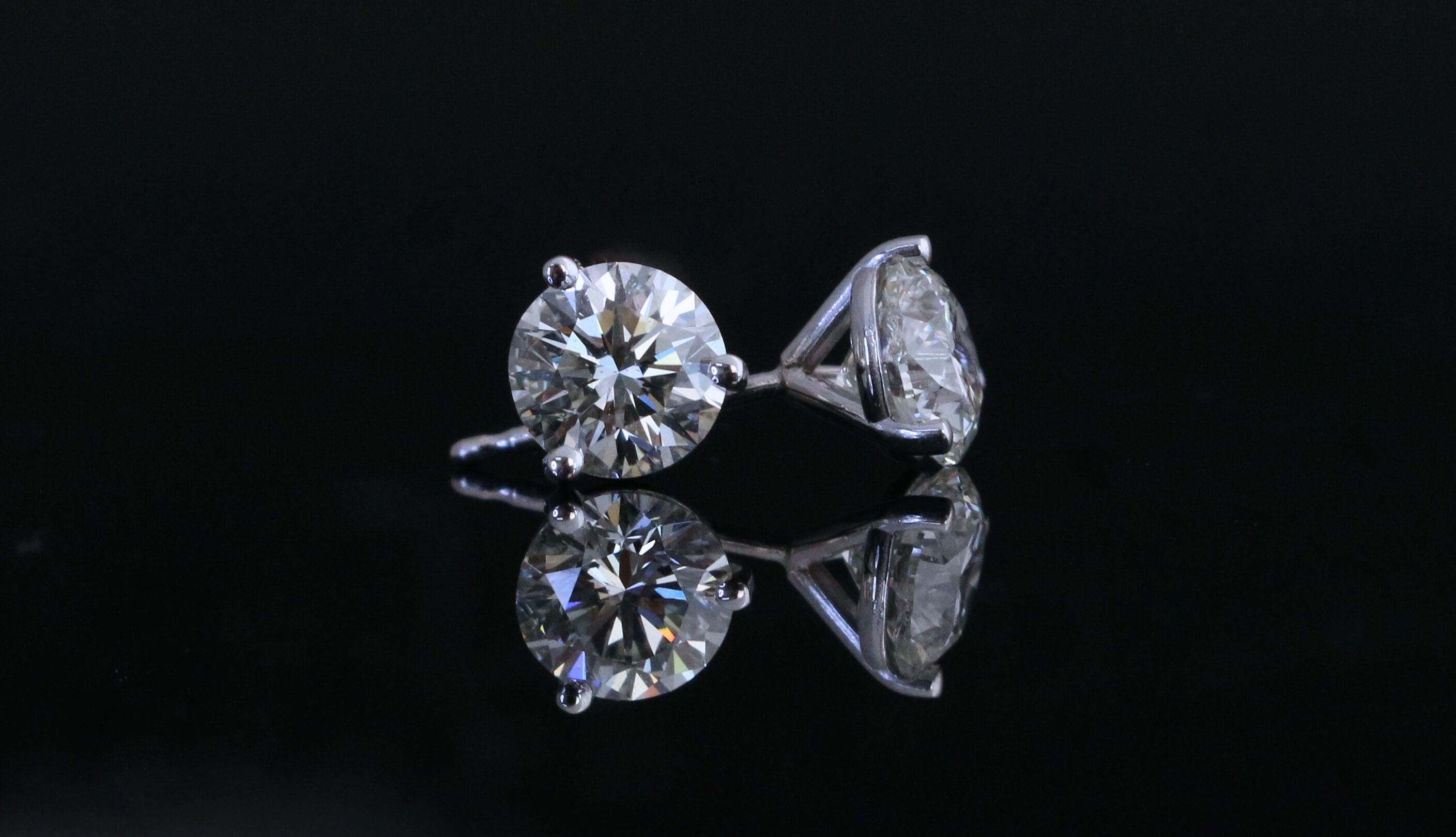 diamond zirconia simply silver sterling new of earrings flat cubic earring stud