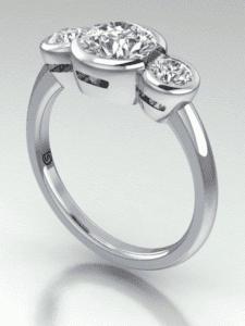 bezel diamond setting