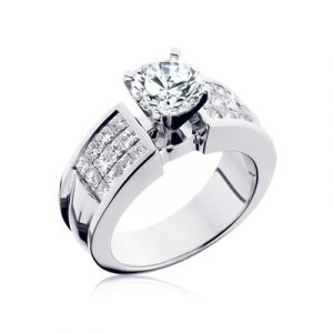 invisible setting on a diamond ring