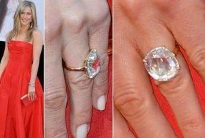 jennifer aniston rose cut diamond engagement ring