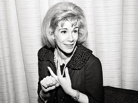 Joan Rivers with Pearls