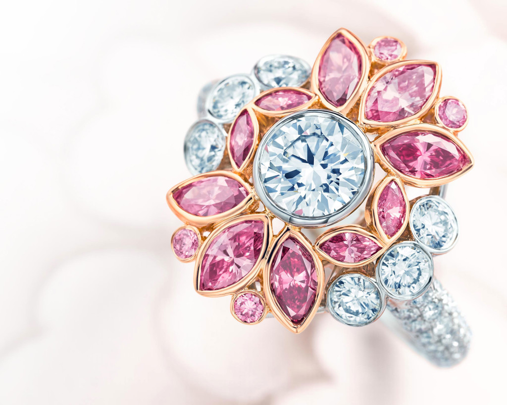 Tiffany Pink Floral Diamond Ring