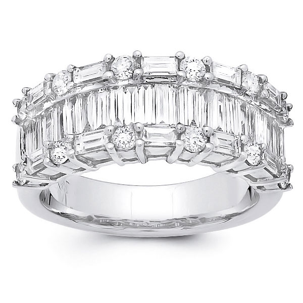 Baguette Wedding Band