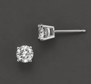 Round Solitaire Diamond Studs