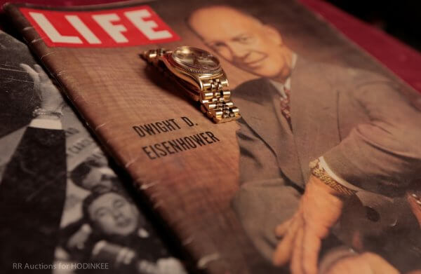 Eisenhower on the cover of Times magazine with his 18k yellow gold Rolex