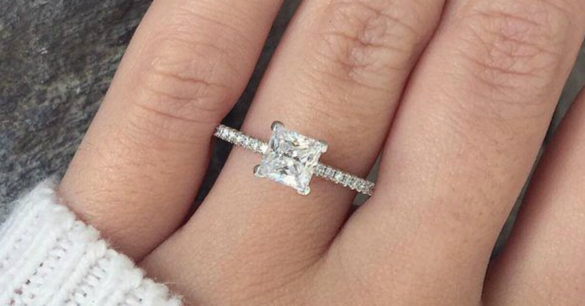 Princess Cut Diamond Ring And Band