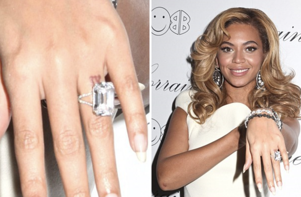 Beyonce and Jay-Z IV wedding tattoo