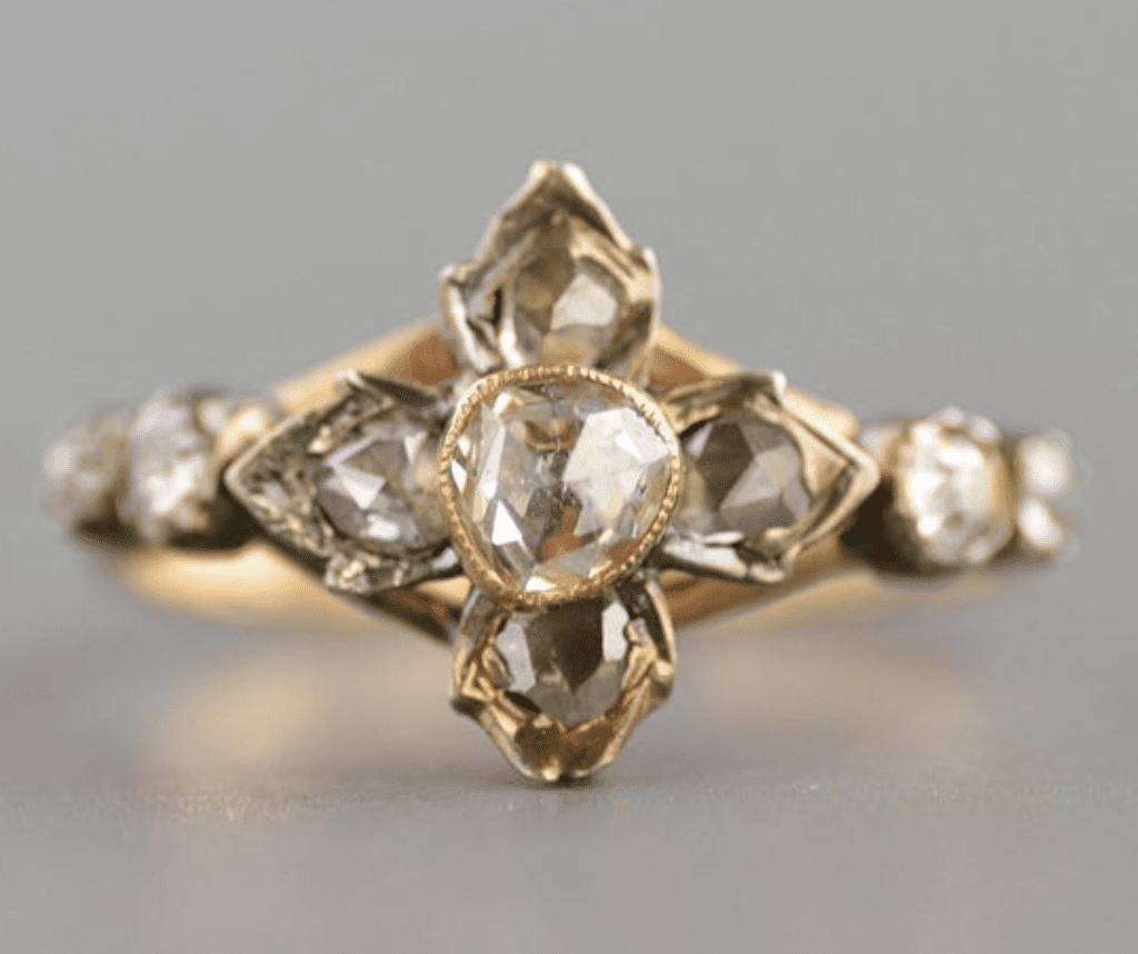 Georgian engagement ring trend