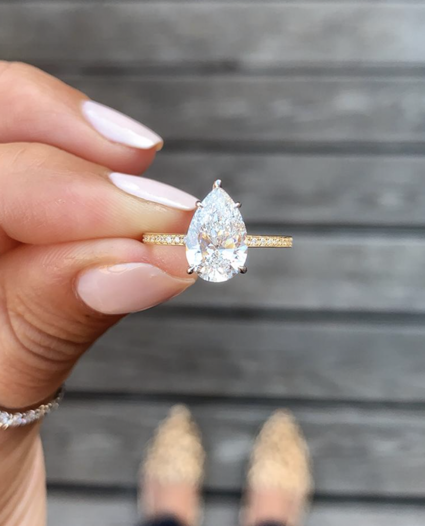 engagement ring trends for 2020 thin band