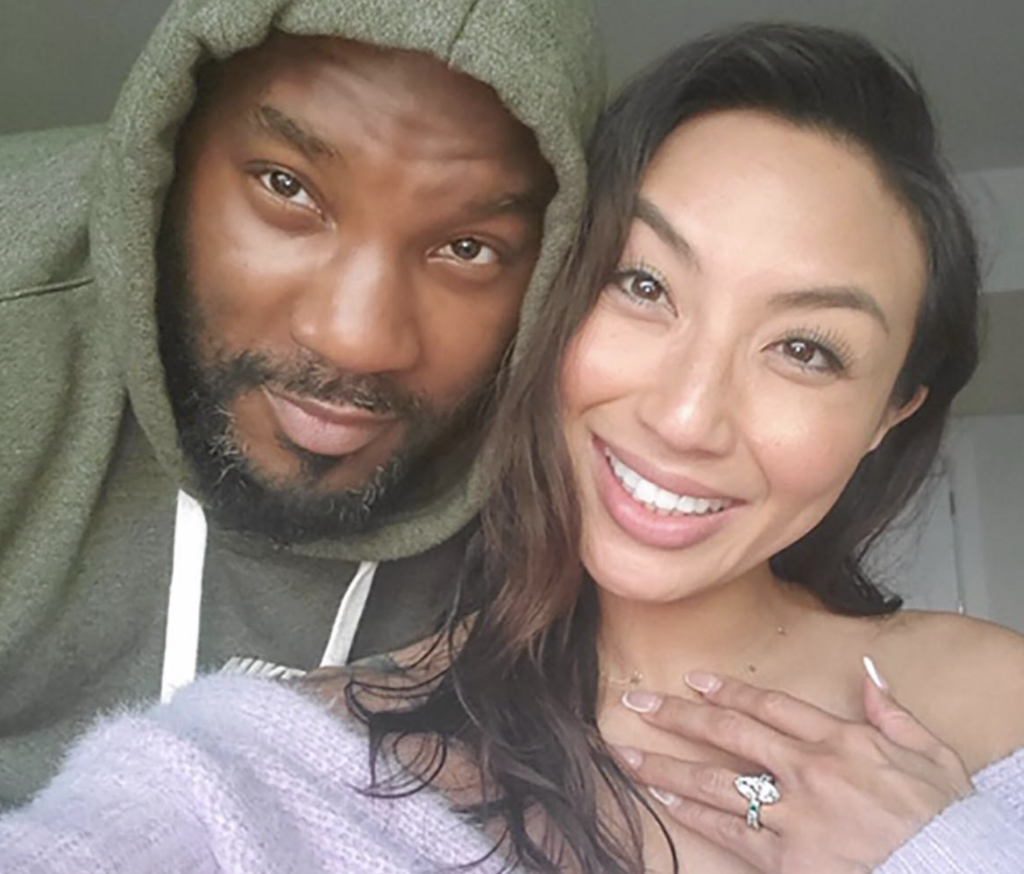 Jeezy proposed to Jeannie Mai with a Marquise cut diamond