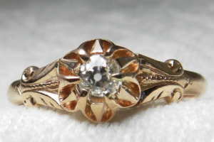 victorian era antique engagement ring