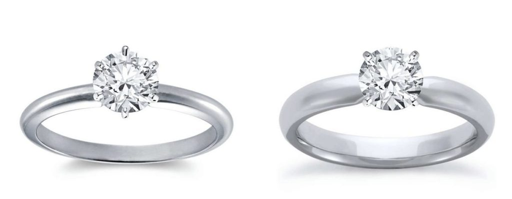 thick vs thin band is factor to consider diamond carat size on finger
