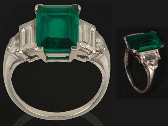 Howard Hughes' engagement ring for Katharine Hepburn