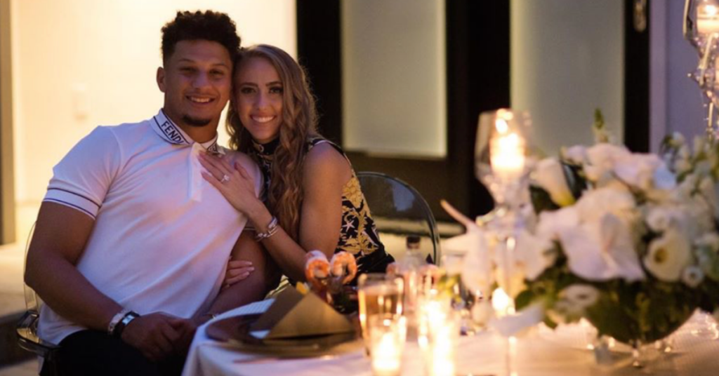Patrick Mahomes and Brittany Mathews are engaged