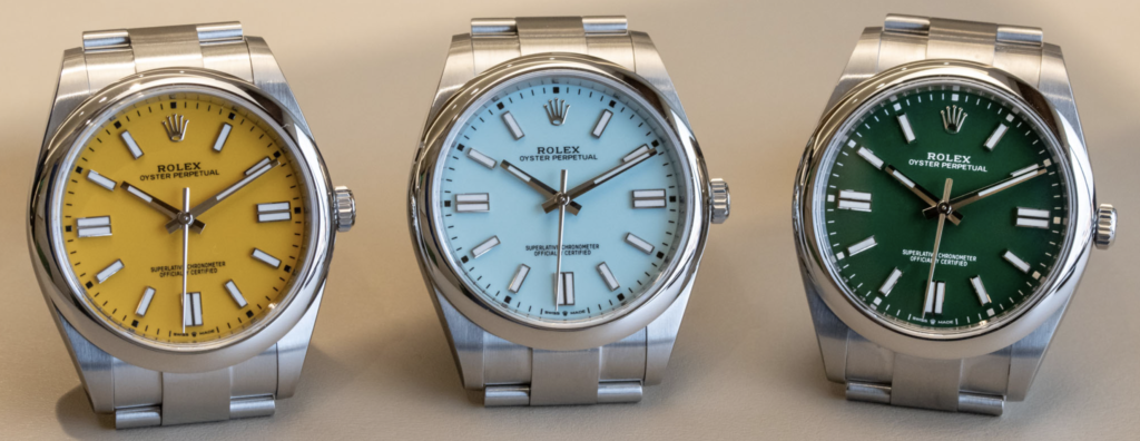 2020 Rolex Oyster Perpetual new colors