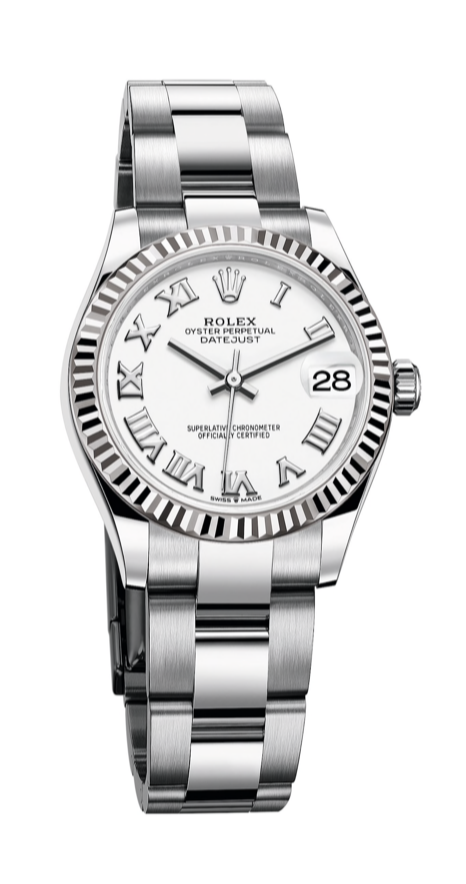 rolex datejust 31 white