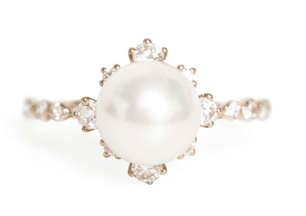 pearl alternative gemstone for engagement ring