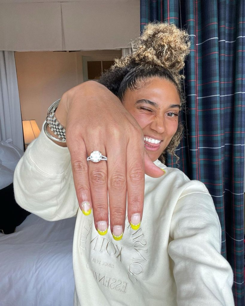 ally love and Andrew Haynes engagement ring