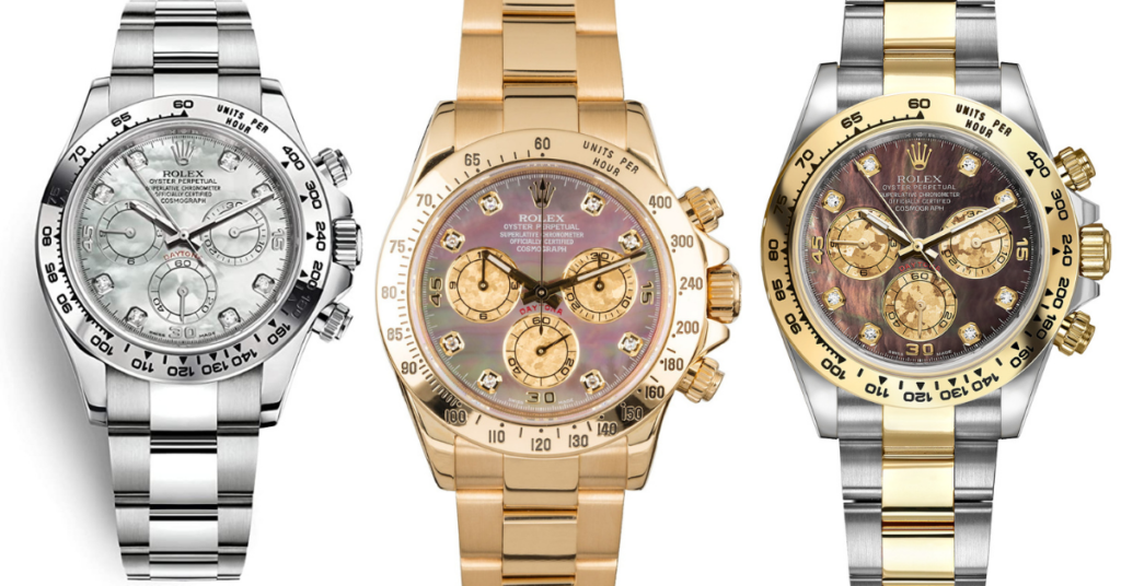 Rolex Daytona mother of pearl dial