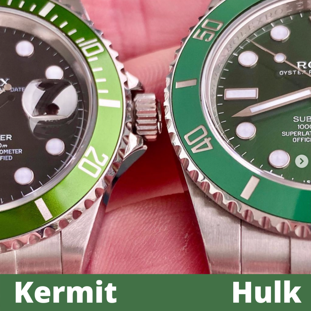 Rolex Hulk vs. Kermit