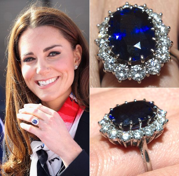 princess Diana engagement ring, blue  sapphire