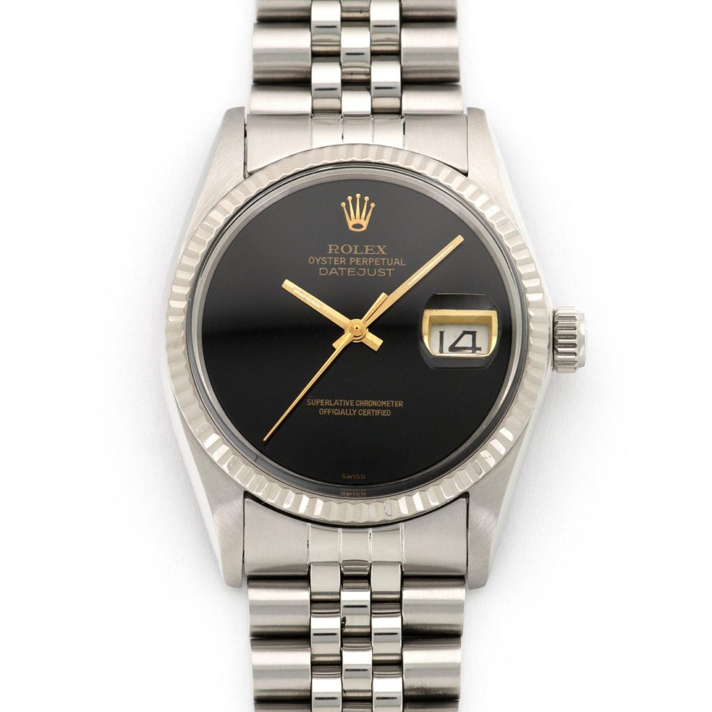 Rolex Onyx Dial with stainless steel case and bracelet