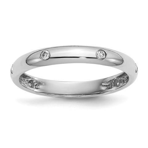 gypsy set ring in platinum