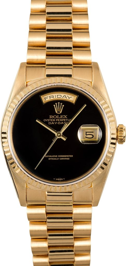 Rolex black onyx day date 18238
