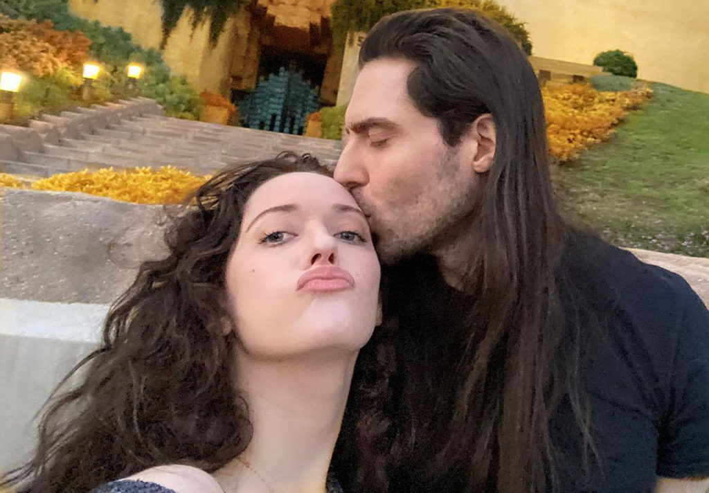 Kat Dennings and Andrew W.K. first photo together on instagram