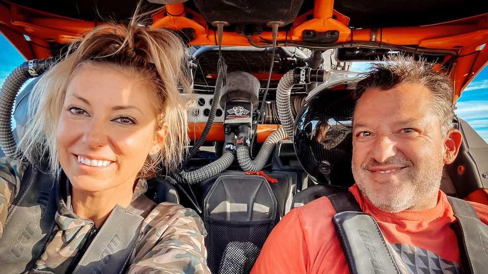 Tony Stewart and Leah Pruett
