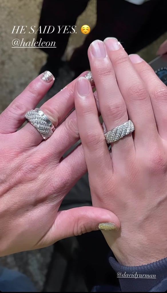 Frankie Grande and Hale Leon engagement rings