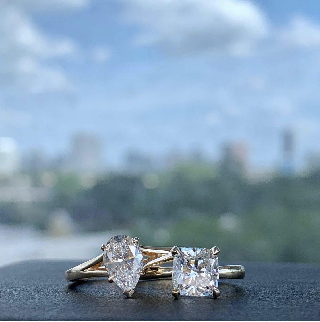minimalist engagement ring created from our loose diamonds