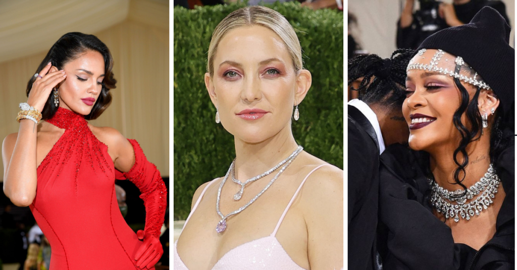 jewelry from the 2021 met gala